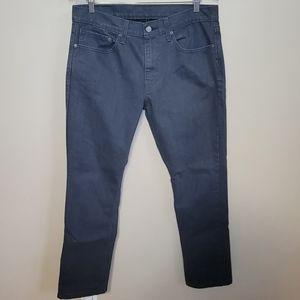Levi's 511 Gray/Black Slim Fit Jeans Size 34x30